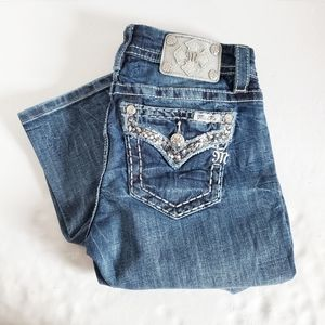 MISS ME Mid Rise Easy Crop Jeans 27